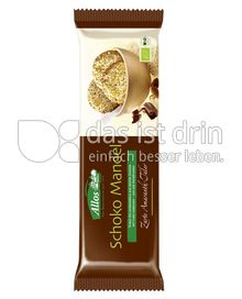 Produktabbildung: Allos Schoko Mandel Zarte Amaranth-Taler 100 g