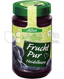 Produktabbildung: Allos Frucht Pur Heidelbeere 250 g