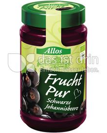 Produktabbildung: Allos Frucht Pur Schwarze Johannisbeere 250 g