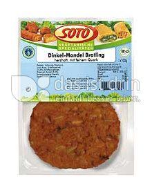 Produktabbildung: SOTO vegetarische Spezialitäten Dinkel-Mandel-Bratling 200 g
