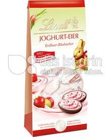 Produktabbildung: Lindt Joghurt-Eier Erdbeer-Rhabarber 80 g