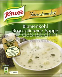 Produktabbildung: Knorr Feinschmecker Blumenkohl Broccolicreme Suppe 500 ml