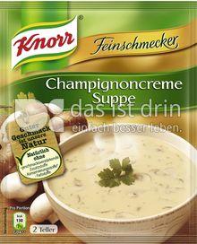 Produktabbildung: Knorr Feinschmecker Champignoncreme Suppe 500 ml