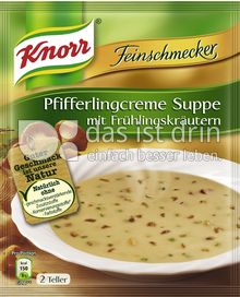 Produktabbildung: Knorr Feinschmecker Pfifferlingcreme Suppe mit Frühlingskräutern 500 ml