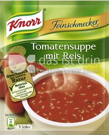 knorr feinschmecker tomatensuppe mit reis 330 0 kalorien kcal und inhaltsstoffe das ist drin. Black Bedroom Furniture Sets. Home Design Ideas