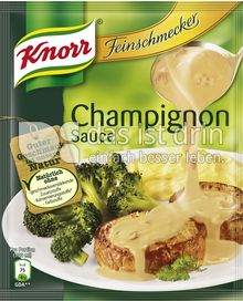 Produktabbildung: Knorr Feinschmecker Champignon Sauce 250 ml