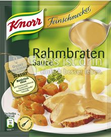Produktabbildung: Knorr Feinschmecker Rahmbraten Sauce 250 ml