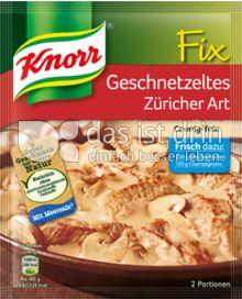 Produktabbildung: Knorr Fix Geschnetzeltes Züricher Art