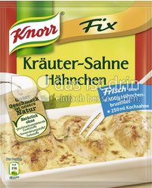 Produktabbildung: Knorr Fix Kräuter-Sahne Hähnchen 28 g