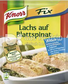 Produktabbildung: Knorr Fix Lachs auf Blattspinat 28 g