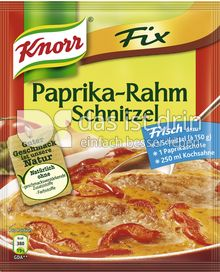 Produktabbildung: Knorr Fix Paprika-Rahm Schnitzel 43 g