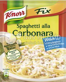 Produktabbildung: Knorr Fix Spaghetti alla Carbonara 38 g