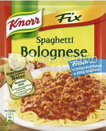 knorr fix spaghetti bolognese 320 0 kalorien kcal und. Black Bedroom Furniture Sets. Home Design Ideas