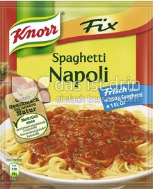Produktabbildung: Knorr Fix Spaghetti Napoli 44 g