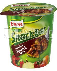 Produktabbildung: Knorr Snack Bar Nudeln in Gulasch-Sauce 62 g