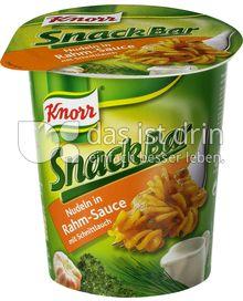 Produktabbildung: Knorr Snack Bar Nudeln in Rahm-Sauce mit Schnittlauch 73 g