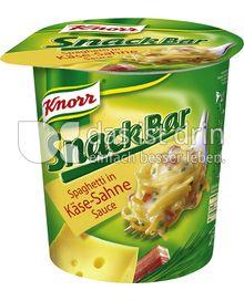 Produktabbildung: Knorr Snack Bar Spaghetti in Käse-Sahne-Sauce 73 g