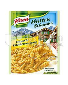 Produktabbildung: Knorr Hüttenschmaus Nudeln in Rahmbraten-Sauce 166 g