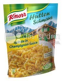 Produktabbildung: Knorr Hüttenschmaus Spätzle in Champignon-Sauce 151 g