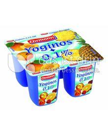 Produktabbildung: Ehrmann Yoginos 0,1% Ananas 100 g