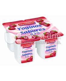 Produktabbildung: Ehrmann Yoginos Sabores 0,1% Erdbeer