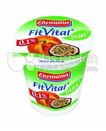 Produktabbildung: Ehrmann Fit Vital Diät 0,1% Pfirsich-Maracuja 150 g
