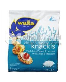 Produktabbildung: Wasa Knäckis mit Dinkel & Meersalz 125 g