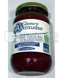 Produktabbildung: Saveurs Attitudes Frucht-Brotaufstrich Rhabarber-Erdbeer / Rhubarbe-Fraise Bio 310 g