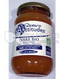 Produktabbildung: Saveurs Attitudes Frucht-Brotaufstrich Birne/ Poire Bio 310 g