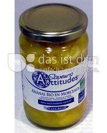 Produktabbildung: Saveurs Attitudes Frucht-Dessert Ananasstücke Bio 350 g