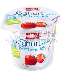 Produktabbildung: Müller Joghurt mit der Buttermilch Erdbeere 150 g