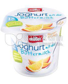 Produktabbildung: Müller Joghurt mit der Buttermilch Mango-Orange 150 g