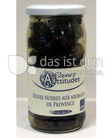 Produktabbildung: Saveurs Attitudes Oliven schwarz Provencal, Olives Noires aus Aromates de Provence, ohne Zuckerzusatz 230 g