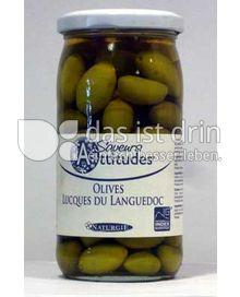Produktabbildung: Saveurs Attitudes Französische Lucques Oliven grün aus dem Languedoc, Olives Lucques du Languedoc, ohne Zuckerzusatz 370 ml