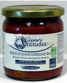 Produktabbildung: Saveurs Attitudes Auberginenpfanne aus jungen Bio Auberginen - Poêlée de Jeunes Aubergines Bio 345 g