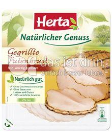 Produktabbildung: Herta Natürlicher Genuss Gegrillte Putenbrust 100 g