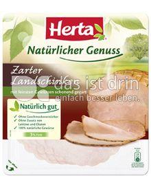 Produktabbildung: Herta Natürlicher Genuss Zarter Landschinken 100 g