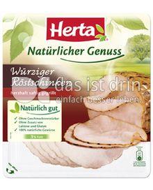 Produktabbildung: Herta Natürlicher Genuss Würziger Röstschinken 100 g