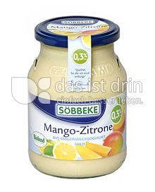 Produktabbildung: Söbbeke Mango-Zitrone Bio Magermilchjoghurt Mild 500 g