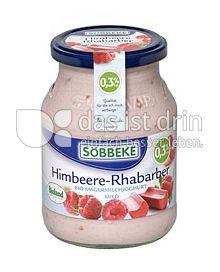 Produktabbildung: Söbbeke Himbeere-Rhabarber Bio Magermilchjoghurt Mild 500 g
