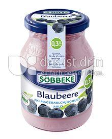 Produktabbildung: Söbbeke Blaubeere Bio Magermilchjoghurt Mild 500 g