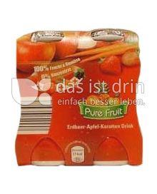 Produktabbildung: Aldi Pure Fruit Erdbeer-Apfel-Karotten Drink 400 ml