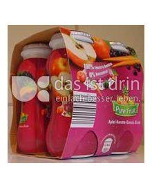 Produktabbildung: Pure Fruit Apfel-Karotte-Cassis Drink 400 ml