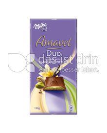 Produktabbildung: Milka Amavel Duo Vanille auf Pistazie 130 g