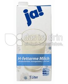 Produktabbildung: ja! H-fettarme Milch 1 l