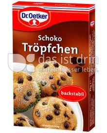 Produktabbildung: Dr. Oetker Schoko Tröpfchen Vollmilch 75 g