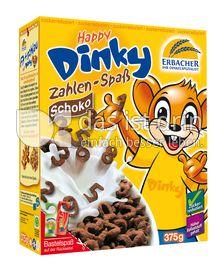 Produktabbildung: Erbacher - Ihr Dinkelspezialist Happy Dinky Zahlen-Spaß Schoko 375 g