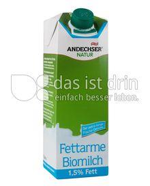Produktabbildung: Andechser Natur Fettarme Biomilch, längerfrisch 1,5% 1 l