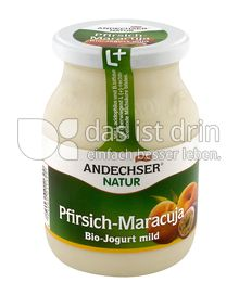 Produktabbildung: Andechser Natur Bio-Jogurt mild, Pfirsich-Maracuja 3,7% 500 g