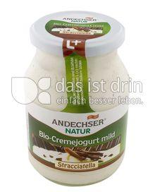 Produktabbildung: Andechser Natur Bio-Cremejogurt mild, Stracciatella 7,5% 500 g